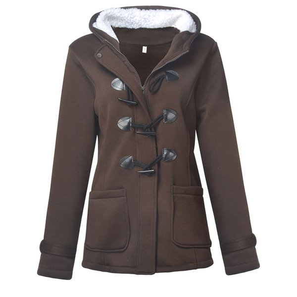 New Design Women Fashion Warm Coat Jacket Outwear Long Parka Overcoat Tops Coffee Black Gray in Autumn Winter