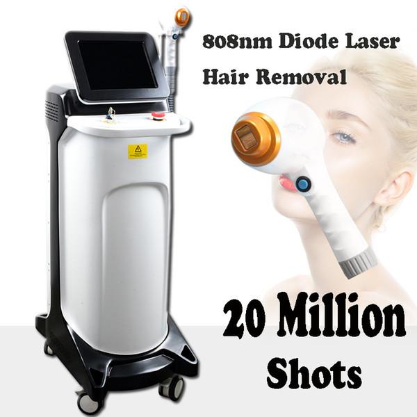 Professionelle Laser-Maschine der Dioden-808nm Professionelle dauerhafte IPL-Haarentfernungs-Ausrüstung 20 Millionen Schüsse Laser-Haarentfernungsgerät