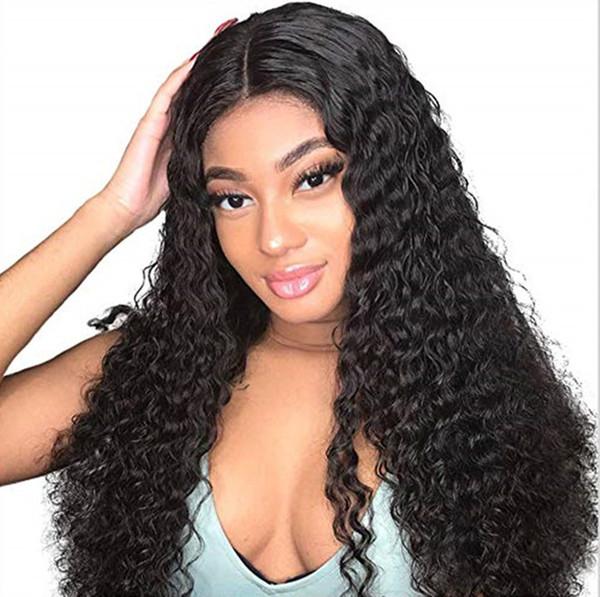 Derin Dalga 360 Dantel Peruk Brezilyalı İnsan Saç Peruk 150% yoğunluk Uzun Kıvırcık 360 Frontal Dantel peruk