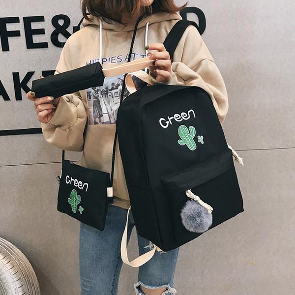Neue Ankunft Rucksack mit Kaktus Rucksack für Teenager Mädchen Student Book Taschen Sets für Mädchen Back to School Travel Bagpack