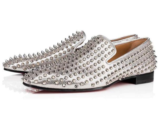 Designer de mode marque noir paillettes paillettes fond rouge mocassins chaussures hommes appartements fête de mariage mâle hommes robe oxford chaussures