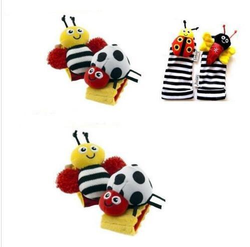 Sales - Plush Toys Toddler Infant Toys lamaze Socks Baby Hand Bell Baby Toys Lamaze Garden Bugs Wrist Rattles and Foot Stockings Bees