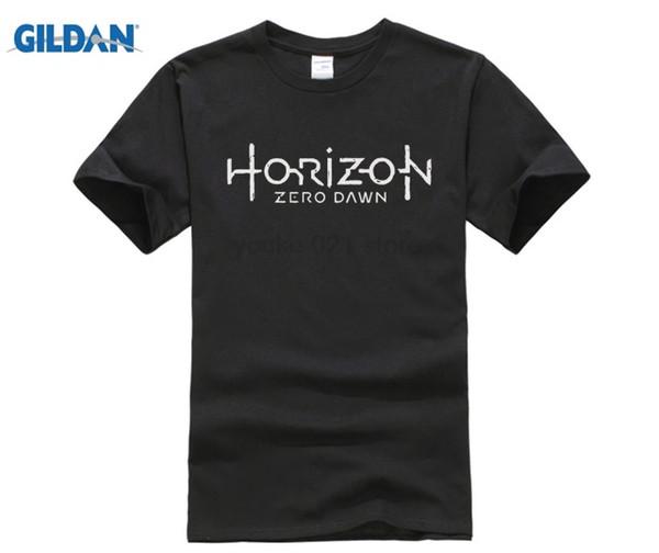 Game PS4 Men T shirt Horizon Zero Dawn Gamer Fans Summer Tee Shirt Homme Cotton O neck Short Sleeve 3XL Funny T shirts