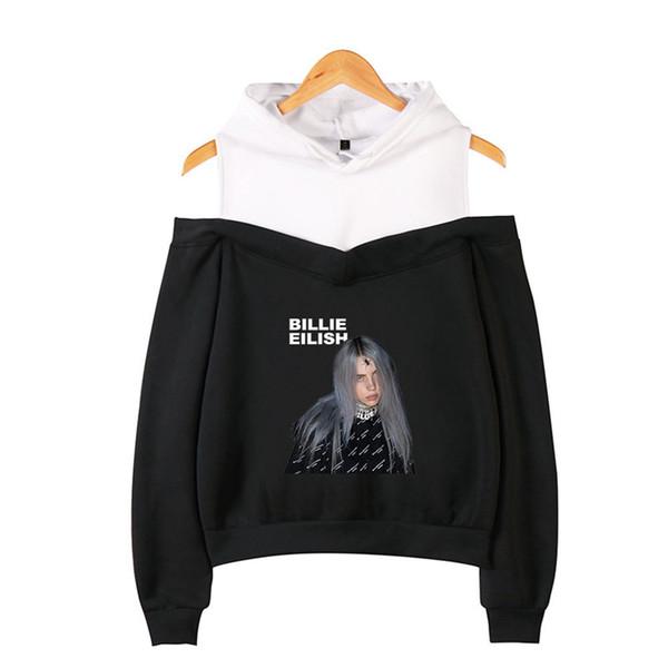 Billie Eilish donne con cappuccio a due pezzi falso rugiada Designer spalla a maniche lunghe con cappuccio signore Felpe Moda Top Femminili