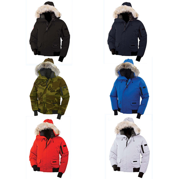 Top Kanada Winter Daunenjacke mit Kapuze Tarnmuster China Kanada uns Herren Frauen Reißverschlüsse warme Daunenjacke Outdoor-Mäntel hoher Qualität