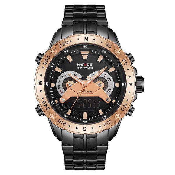 Analog LCD Digital WEIDE Watch Men Stainless Steel Digital Watch Sports Wristwatch LED Quartz Wrist Watches Relogio