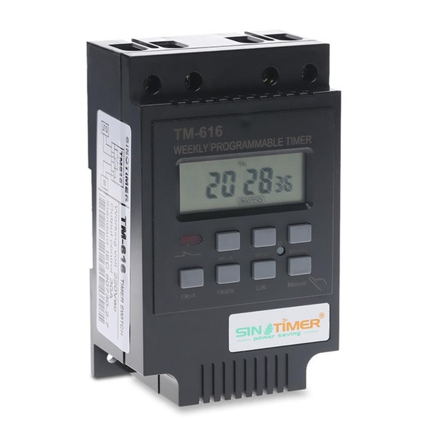 Programmable Time Switch TM616 220V Street Light Timer Switch Oven Time Controller Timer