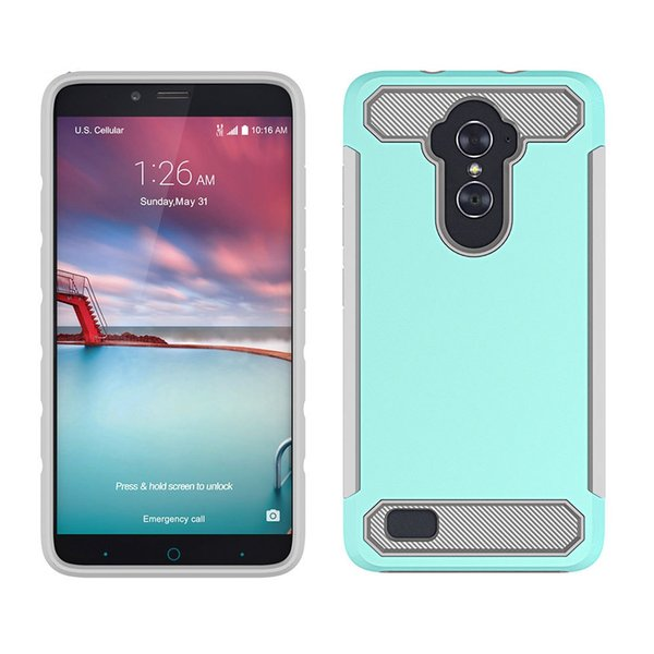 Carbon Fiber Dual Layer Hybrid Case For ZTE Sequoia Blade Zmax Pro 2 Z982  Imperial Max XL N9560 Z963U Protective Shockproof Cover Silicone Phone  Cases