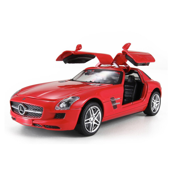 1:32 Alloy AMG SLS Gull-wing Door Sport Car Model Classic Model Collections Pullback Car Toys for Kids Gifts
