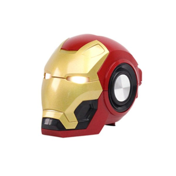 Iron Man Bluetooth Speaker Radio Wireless Bluetooth Cartoon Speakers With Music MP3 Radio Support TF Card For Phone PC Portable Audio Player