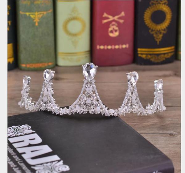 Crystal Crown Headdress Baroque Beautiful Princess Crown Bride Wedding Garment Accessories