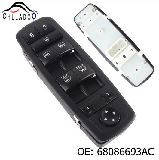 best selling HLLADO New Front Door Master Power Window Switch 68086693AC For C hrysler J eep D odge Durango 2011-2013 68086693AD 68086693AE Window Lifte
