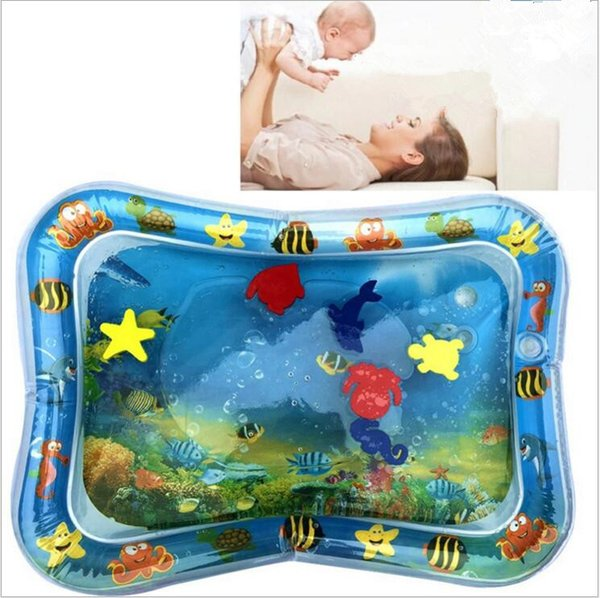 top popular Inflatable Water Cushion Best Baby Toy Home Mats Seat Infant Tummy Time Fun Play Mat home ice Pad Inflatable prone patting pads C572 2021