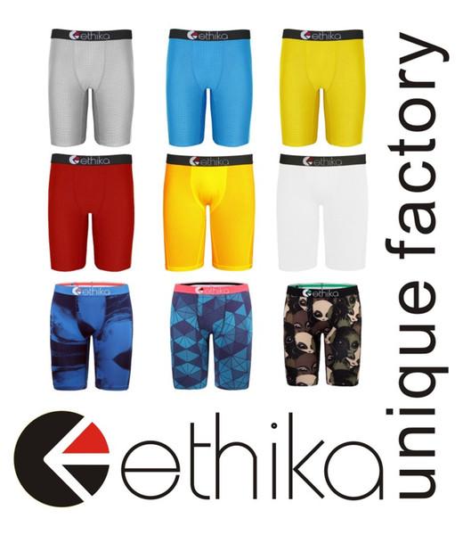Grapa Ethika hombres del boxeador el 13 de nuevo sobre el consumo de roca calle de la moda de la ropa interior del monopatín patrones deportes hip hop streched legging de secado rápido