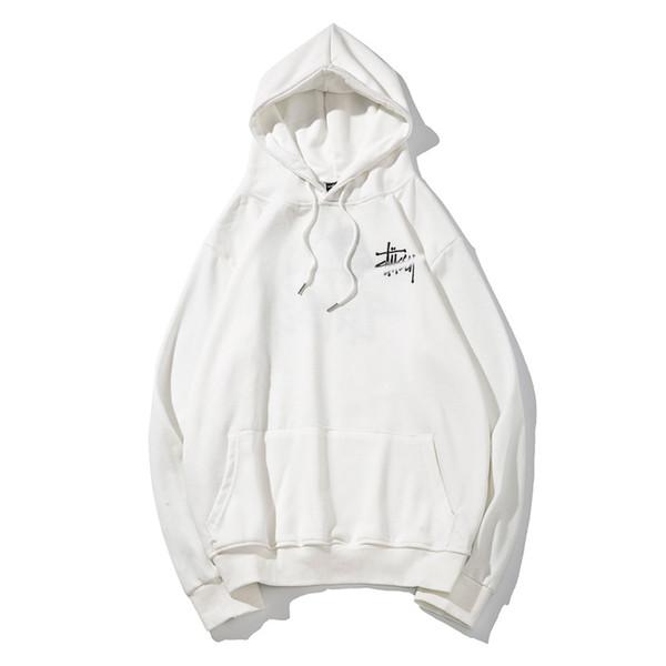 2019 marca de Otoño de París Diseño marea de la moda nueva de cuatro colores costura jersey 100% algodón de los hombres de los hombres camiseta resistente M-XXL