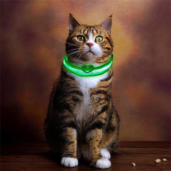 Dropship Nylon Pet LED Light Up Dog Collar Leash Collar Night Dog Leash Safety Brand Flashing Adjustable Puppy