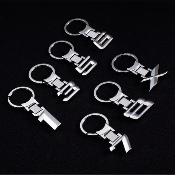 Fashion zinc alloy keychain for BMW digital car logo metal keychain car waist advertising key ring ring pendant