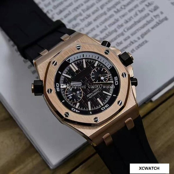 AAA high quality men's watch. J03209 series upgraded automatic mechanical movement. 316 steel steel. imported silica strap. mineral wear-res