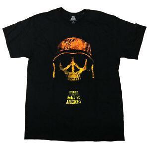 T-shirt Full Metal JArriverriveet Skull Helmet né à mourir 100% officiel Stanley KubriArrive