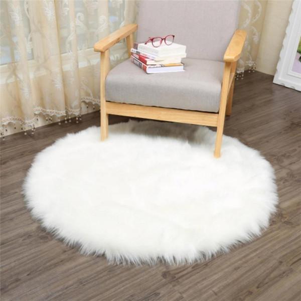 Weicher Teppich Für Kinderzimmer.Großhandel Ishowtienda Boden Teppich Weiche Künstliche Schaffell Warme Haarige Teppich Sitzpolster Für Wohnzimmer Schlafzimmer Kinderzimmer Teppiche