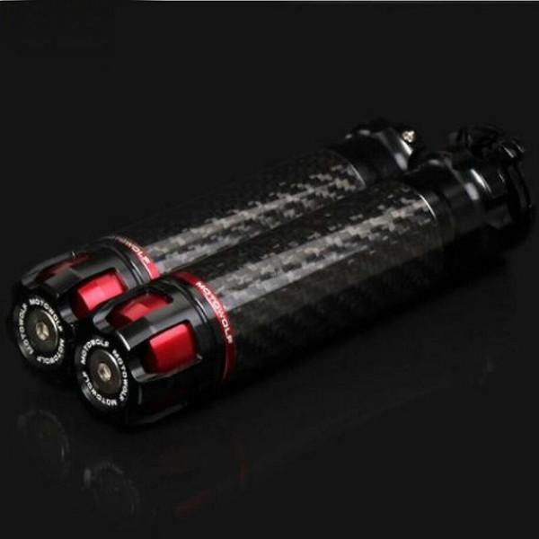 CNC motocicleta guiador Grips liga de alumínio de fibra de carbono guiador Guiador Grips Anti Slip Para 22 milímetros 7/8