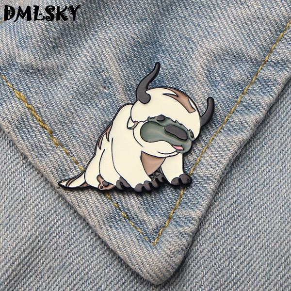 Giyim Çanta Çocuk Pim M3253 için DMLSKY 20pcs / lot Avatar Sevimli Köpek Emaye iğneler Giyim için metal Emaye Pim Erkekler Yaka Pin Broş