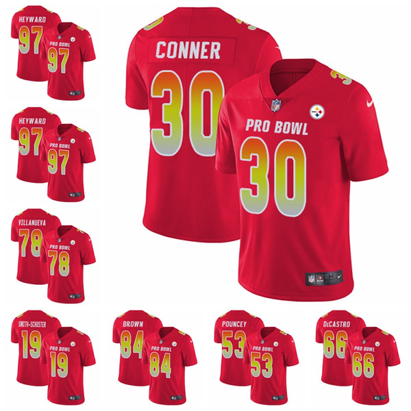 sports shoes 89973 6620c Pittsburgh Women'S Men'S Youth JuJu Smith Schuster James Conner Limited  Football Jersey Steelers Red AFC 2019 Pro Bowl Formal Suit For Men  Groomsmen ...