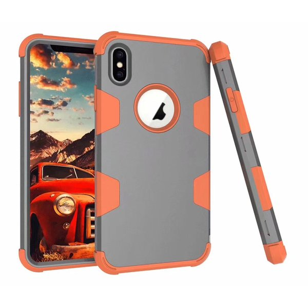High quality 3 in 1 Hybrid Robot TPU Defender Armor Case Cover For iPhone 6 6s plus 7 8 plus X XS XR XS MAX S8 S9 Plus NOTE 8 NOTE 9