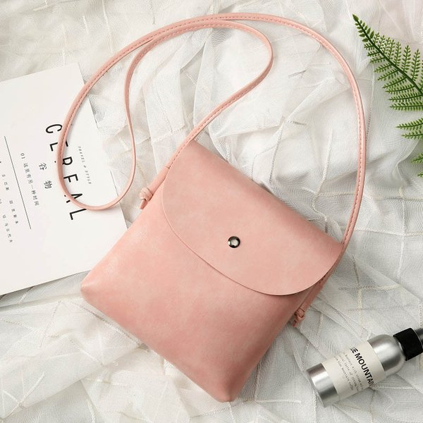 2019 Hot Sale British Fashion Simple Small Square Bags Women's Designer High Quality PU Mobile Phone Shoulder Crossbody Bags