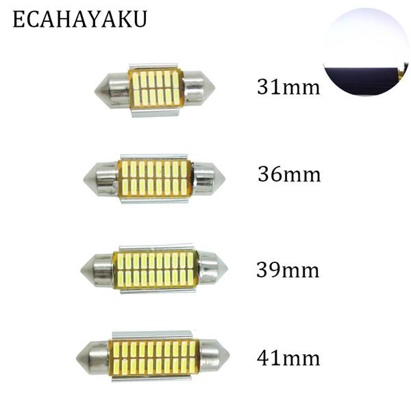 ECAHAYAKU 2x 31mm 36mm 39mm 42mm C5W C10W super lumineux 4014 SMD voiture LED feston lumière Canbus sans erreur intérieure ampoule de lampe de dôme