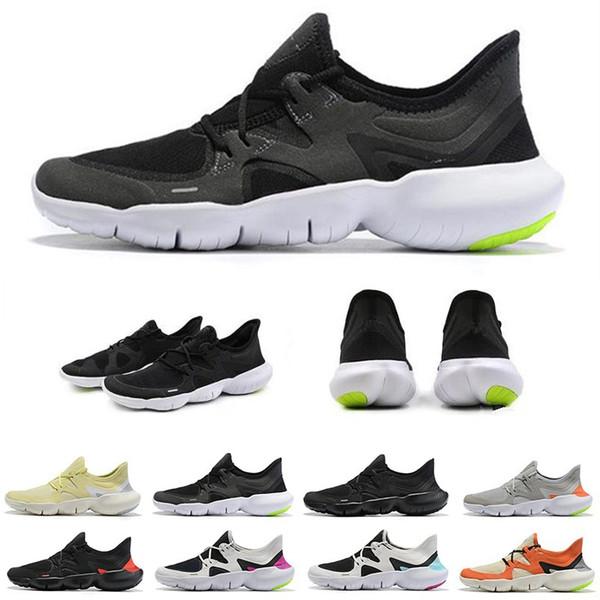 Бесплатные Новые Rn Run 5.0 Des Chaussures Мужские Дизайнерские Кроссовки Мокасины Тройной Черный Серый Женские Кроссовки Спортивные Беговые Кроссовки