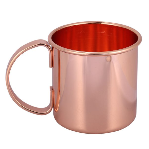 1pc Stainless Steel Copper Plating Beer Milk Coffee Tea Mug Rose Gold Drinkware Home Bar Drinking Cup With Handle C19041302