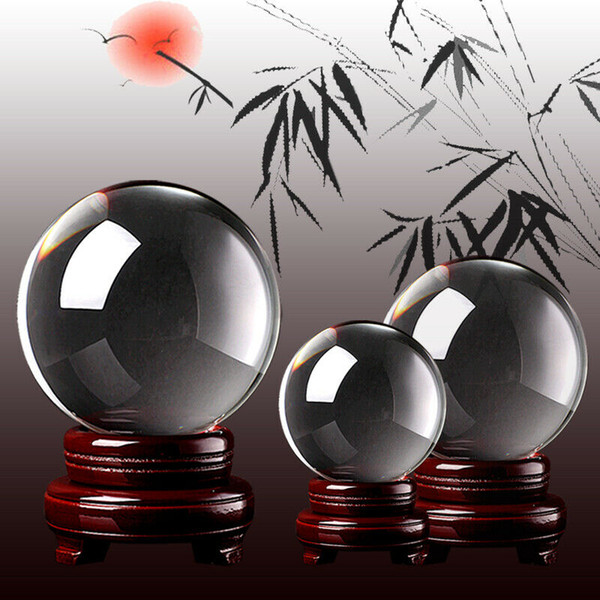 40/50 / 60mm en verre transparent Crystal Healing Boule Photographie objectif Sphère Décor Kid Cadeau Nouveau Mode