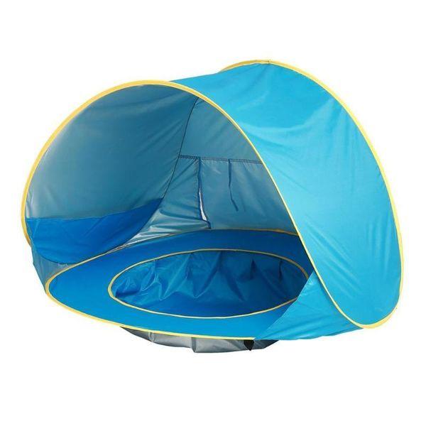 Bebek Çocuk Plaj Çadır Pop Up Taşınabilir Gölge Havuz UV Koruma Güneş Barınak
