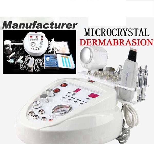 Envío gratis rápido 5 en1 Diamante Microdermoabrasión Dermoabrasión Peeling Cuidado de la piel Rejuvenecimiento BIO lifting facial Máquina de belleza