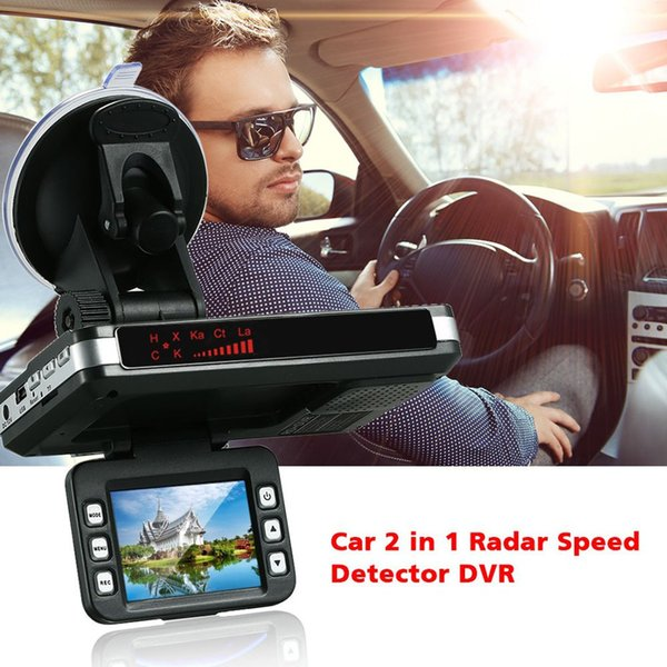 HD 2 IN 1 Car Dash Dashboard Tachograph DVR Camera Laer Radar Speed Recorder DVR Rear View Cam Recording Machine