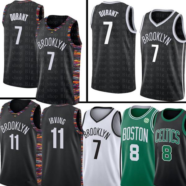 11 NCAA 7 Kevin Durant Kyrie Mens Irving Jersey Kemba 8 Walker Jersey University Brooklyn Top Nets Celtic Basketball Jerseys 2019 New