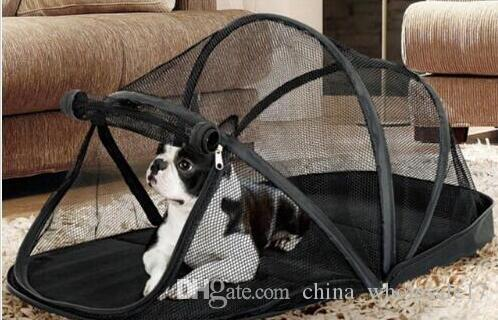 Free Shipping Portable Playpen for Dogs Pet Cat Dog House Outside Kennel Cage Foldable Pet Puppy Kennel Tents Cats Nest with Mosquito Net