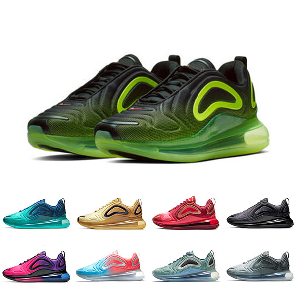Compre 2019 Nike Air Max 720 New Ghost KPU OG Zapatillas De Running Para Hombre Mujer Sunset Triple Negro Sunrise DESERT GOLD Zapatillas Deportivas