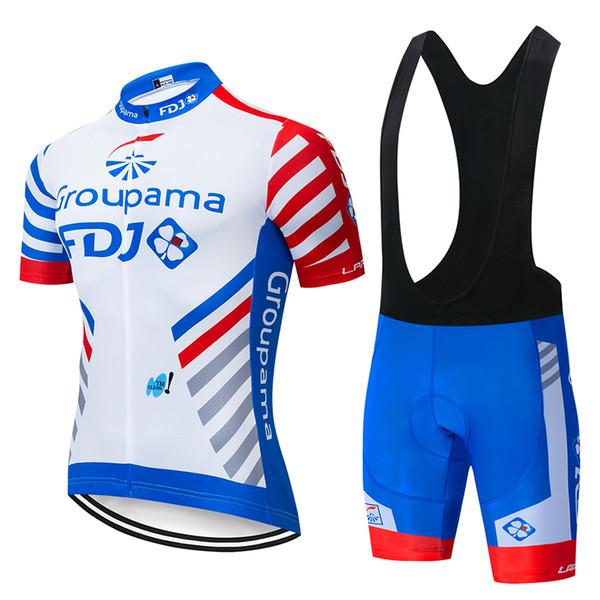 2019 Maillots de cyclisme Pro Team FDJ costume vêtements de cyclisme VTT Cyclisme à séchage rapide Respirant Vélo Vêtements de sport Maillot Ropa Ciclismo Set
