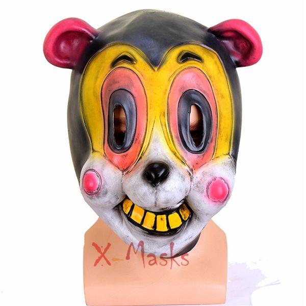 The Umbrella Academy Máscaras de Cosplay Cha Cha Hazel Pogo Traje Máscaras de Olho TV Larp Papel partido Latex Halloween Assassino caso macaco