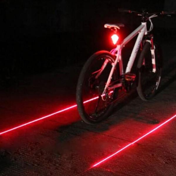 Venda quente de Bicicleta LEVOU Luz Traseira de Segurança Luz de Aviso 5 LED + 2 Laser Night Mountain Bike Luz Traseira Da Lâmpada de Cauda Bycicle # 635950