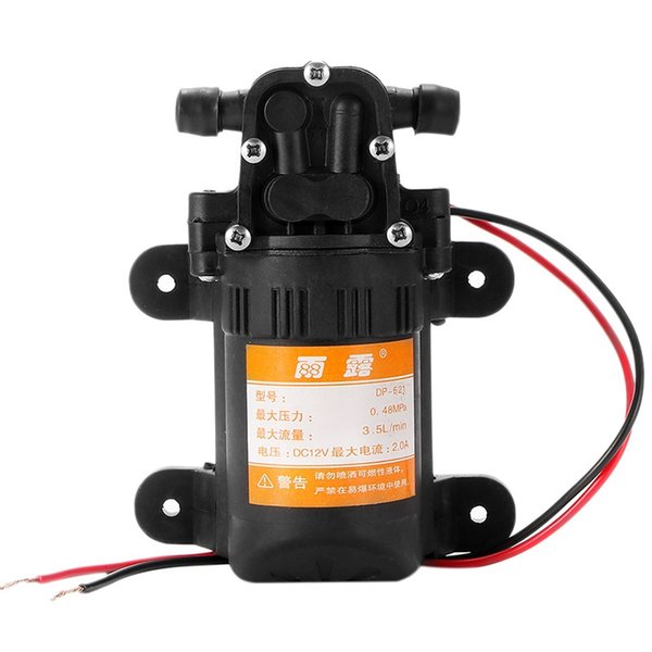 Dc 12V 70 Psi 3.5L/Min Agricultural Electric Water Pump Black Micro High Pressure Diaphragm Water Sprayer Car Wash 12V