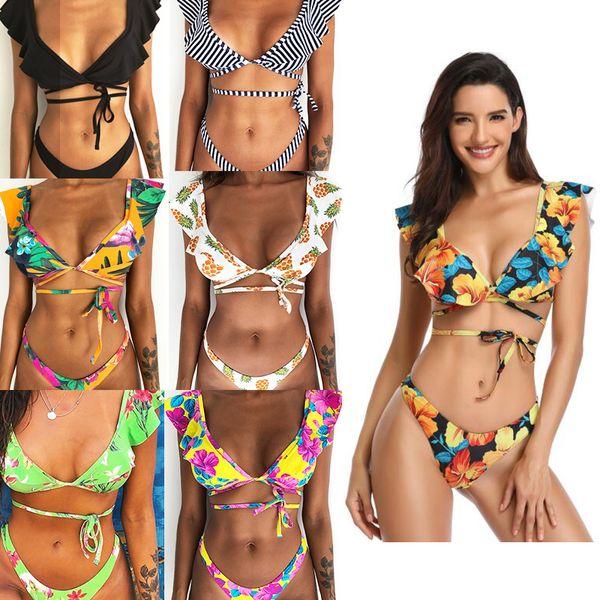 91c04d9518f1 Compre Traje De Baño Bikini Para Mujer 2019 Novedades Traje De Baño Bikini  Sexy Dos Piezas Triángulo Bikini Traje De Baño Dama Traje De Baño Sexy ...