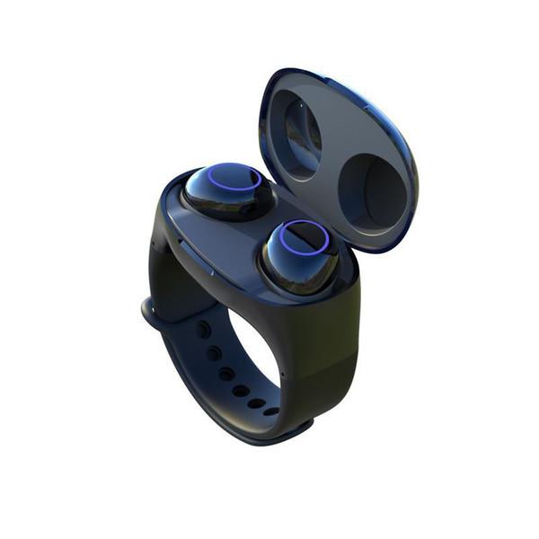 Hm50 armband tws bluetooth kopfhörer armband sportuhr stil für android und ios tragbare drahtlose sportuhr typ lagerung ladegerät
