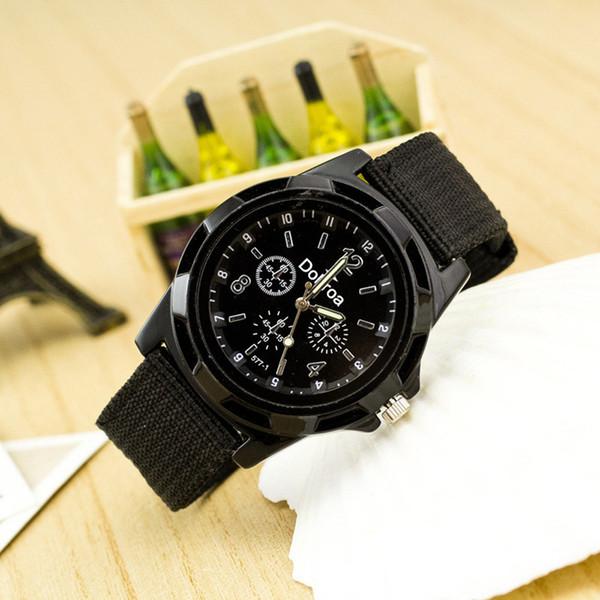Orologio da polso da uomo Fashion Sport intrecciato Canvas Belt Analogico uomo orologi da polso da uomo orologio relogio masculino reloj hombre