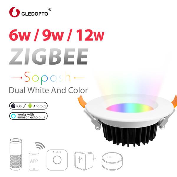 huge selection of d1ca0 15c40 GLEDOPTO ZIGBEE ZLL Smart 6W 9W 12W LED RGB+CCT Downlight ...