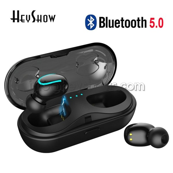 Q13S TWS 5.0 Bluetooth Earphone Mini Bluetooth Earphone Wireless Earphones Stereo Earbud In-Ear Earbud Charging Box with Mic for Smartphones