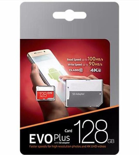 top popular 2019 Hot Selling Black Red EVO + Plus Class 10 256GB 64GB 32GB 128GB Flash TF Card Memory Card C10 Adapter PRO PLUS Class 10 100mb s 2021