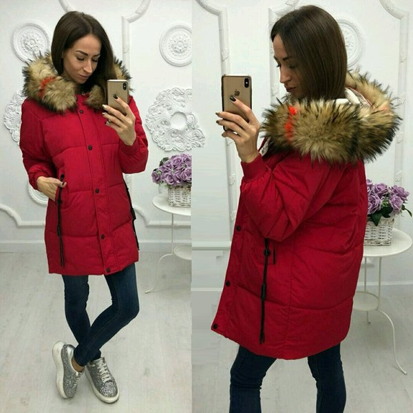 Fashion Parka Women Long Coat Winter Thick Warm Fur Collar Hooded Jacket Outerwear Ladies Solid Color Slim Coats Overcoat Parkas